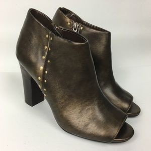 Nine West Shoes - Nine West Sz 7.5 Synthetic Booties Open Toe